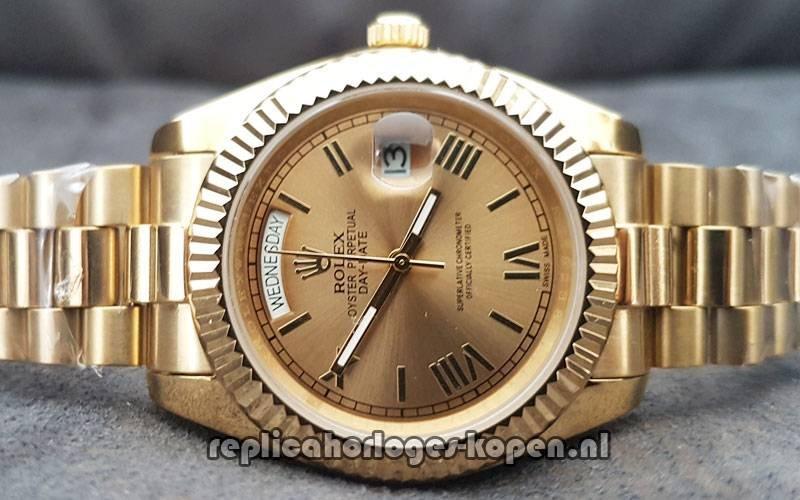 e86fc08c286 Kopen Replica Rolex Daydate 40 Goud (Prachtig)  ⌚ Replica Luxueuze ...