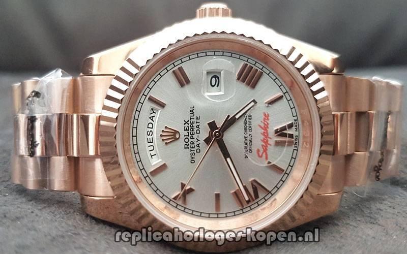 9980f607619 Kopen Replica Rolex Daydate 40 Rosé Goud Lichte Wijzerplaat (Nieuwste)  ⌚  Replica Luxueuze Horloges