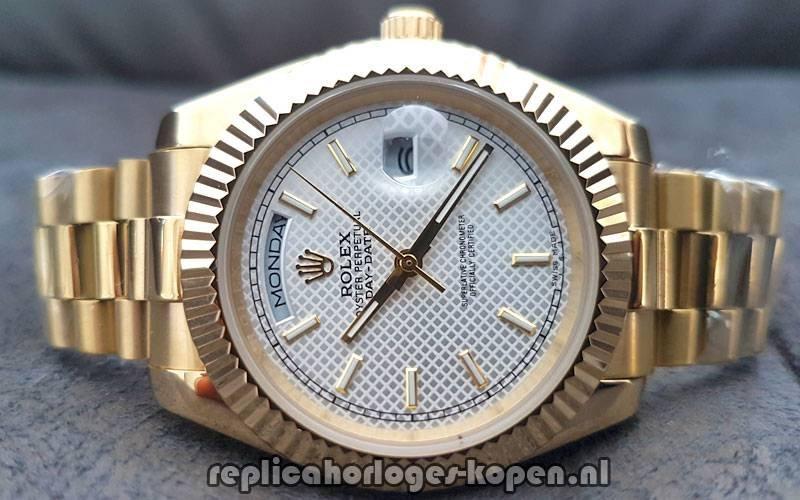 17362fb6477 Kopen Replica Rolex Daydate 40 Goud Lichte Wijzerplaat (Nieuwste ...
