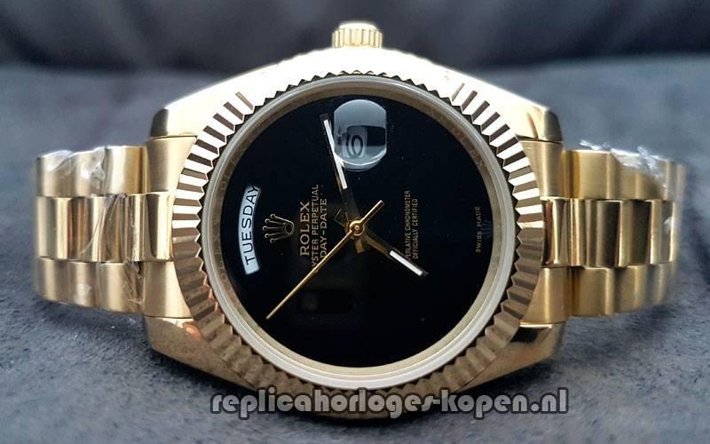 96bb381b43d Kopen Replica Rolex Daydate 40 Goud Black Wijzerplaat (Nieuwste ...